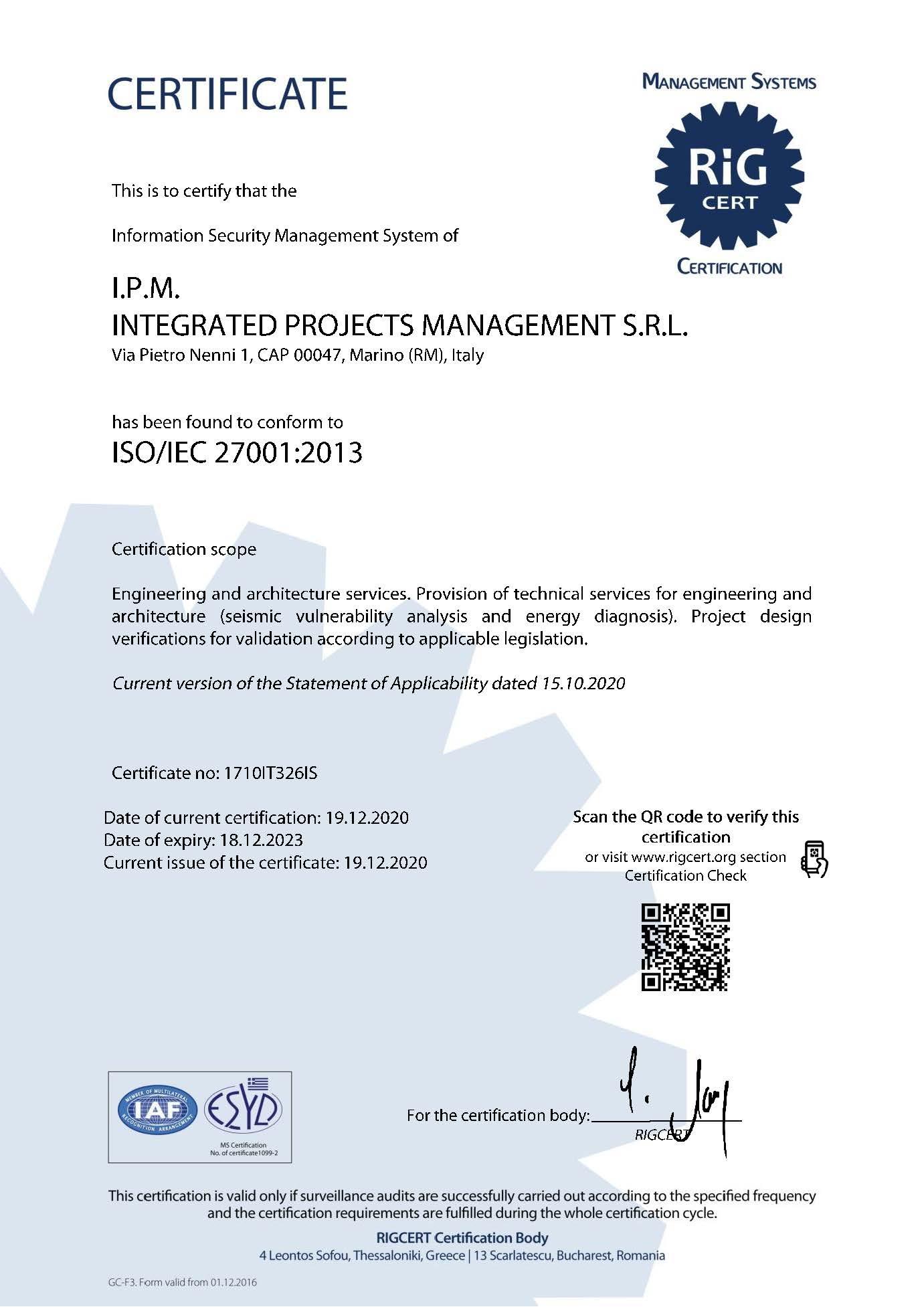 Certificato_IPM_27001_En